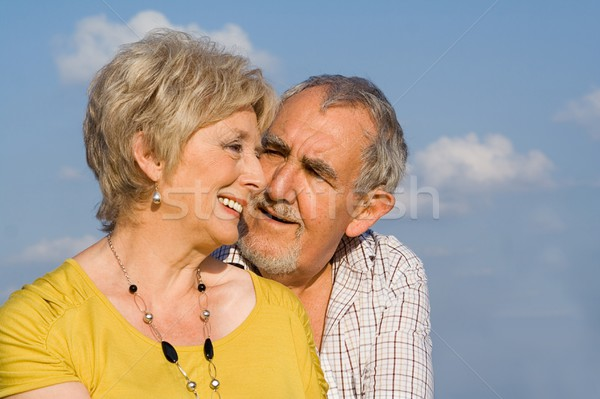 loving senior couple happy in the golden years Stock photo © godfer