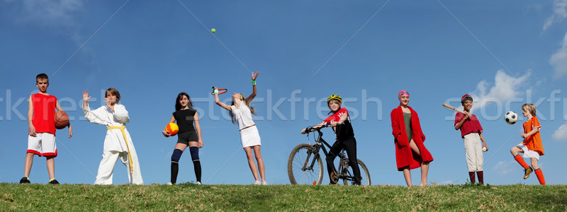 group of kids at sports camp Stock photo © godfer