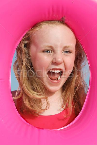 Heureux vacances d'été petite fille enfants été Kid Photo stock © godfer