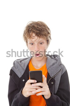 shocked cell or mobile phone Stock photo © godfer