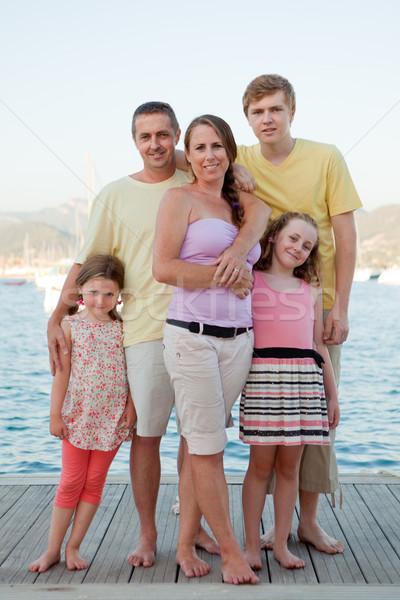 summer holiday family Stock photo © godfer