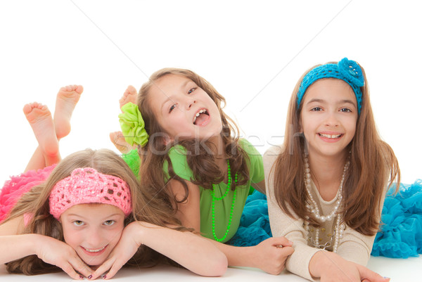 happy little girls Stock photo © godfer