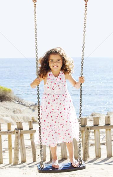çocuk oynama salıncak tatil genç çocuk Stok fotoğraf © godfer