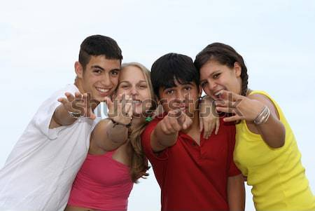 group of diverse teens Stock photo © godfer