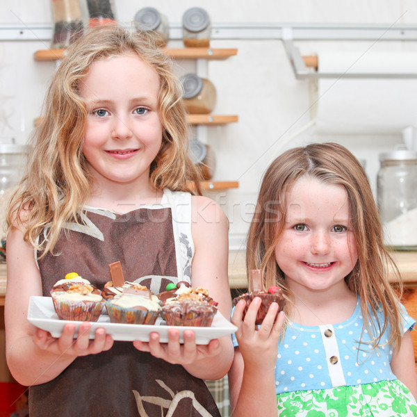 kids cooking Stock photo © godfer