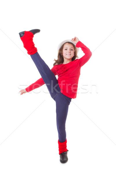girl modern dancing  Stock photo © godfer