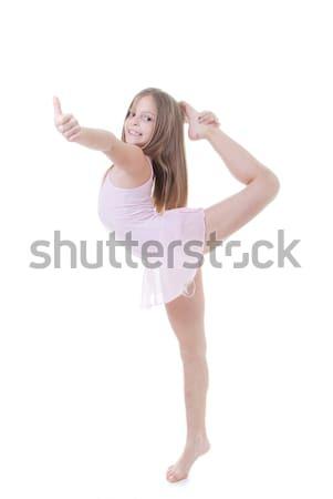 Dziecko równowagi baletnica dance szczęśliwy tle Zdjęcia stock © godfer