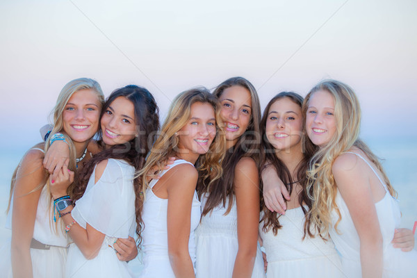 teen girls natural beauty Stock photo © godfer