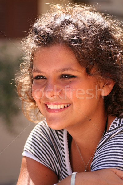 happy smiling kid with perfect straight white teeth Stock photo © godfer