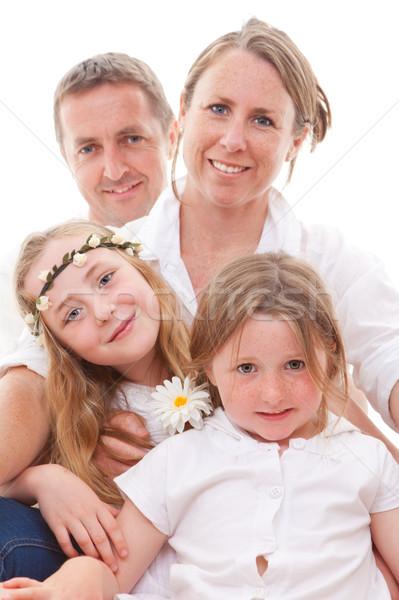 Famiglia felice sorridere genitori ragazzi ragazze Foto d'archivio © godfer