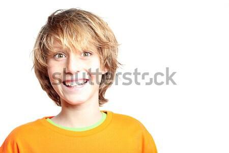 Boldog mosolyog meglepődött gyerek mosoly gyerekek Stock fotó © godfer