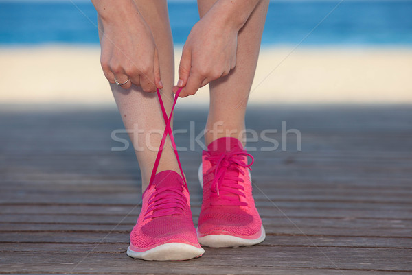 running sports shoes or sneakers Stock photo © godfer