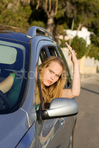 road traffic rage, angry driver Stock photo © godfer