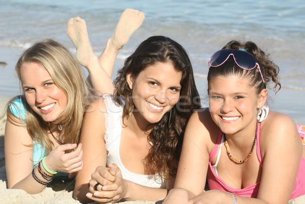Spring break yaz tatili mutlu yaz eğlence gençler Stok fotoğraf © godfer