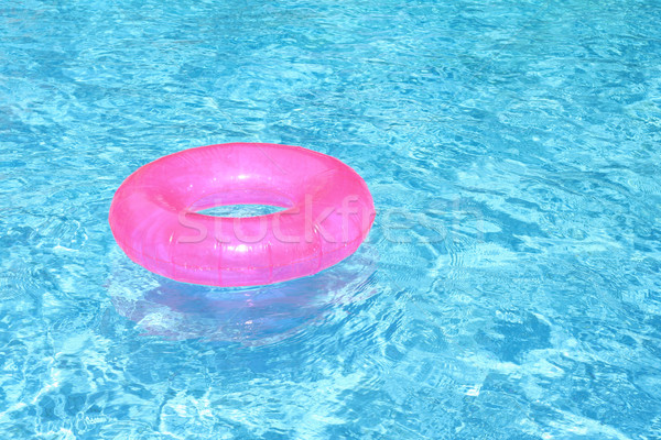 Megnyugtató nyár nyaralások ünnep úszómedence játék Stock fotó © godfer