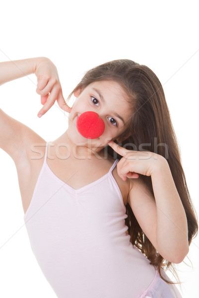 red nose day kid Stock photo © godfer