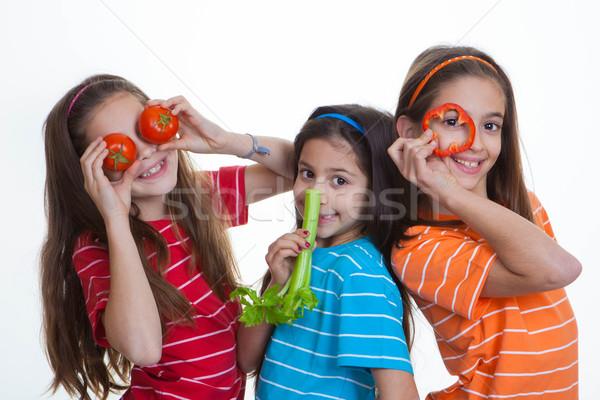 kids healthy eating diet Stock photo © godfer