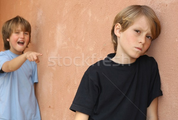 school bully, child being bullied in playground Stock photo © godfer