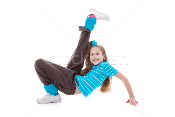 child dance exercising Stock photo © godfer