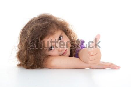 Stock fotó: Gyermek · hüvelykujj · felfelé · boldog · pozitív · remek