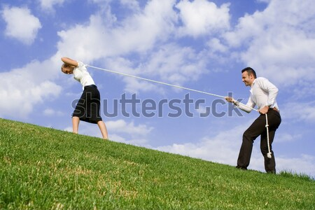 business concept, battle of the sexes Stock photo © godfer