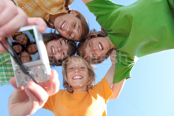white teeth and smiles, happy group of kids Stock photo © godfer