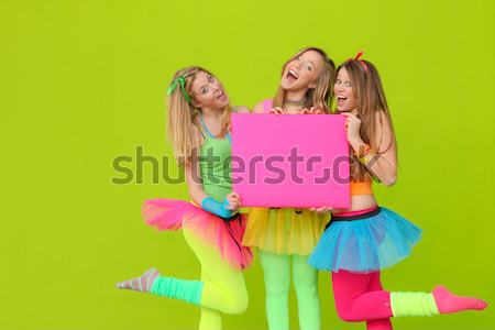 Adolescents danse fête d'anniversaire mode enfants groupe Photo stock © godfer