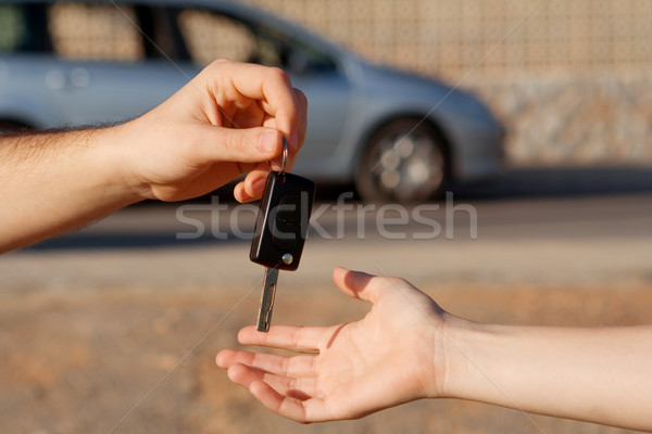 new car keys or car hire or rental Stock photo © godfer