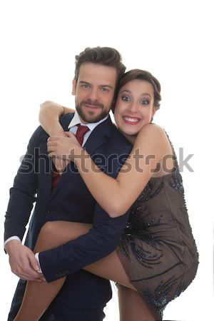 Stock photo: fun couple at party