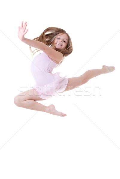 Danseur de ballet sauter enfant danse heureux fond Photo stock © godfer