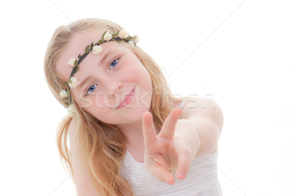 child v sign Stock photo © godfer