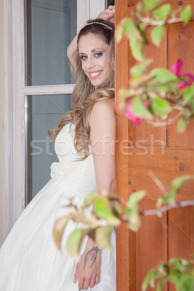 pretty woman dressed for party, prom or graduation Stock photo © godfer