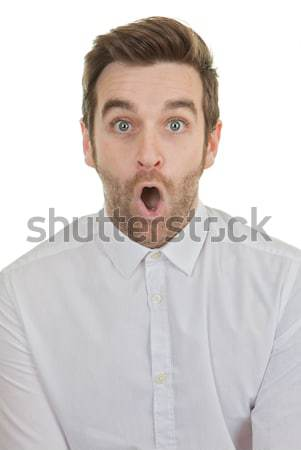 surpise shocked man mouth open Stock photo © godfer