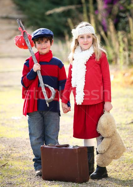 детей летний лагерь отпуск праздник девушки рук Сток-фото © godfer