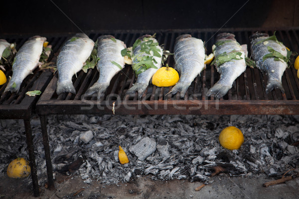 mediterranean fish cooking  Stock photo © godfer