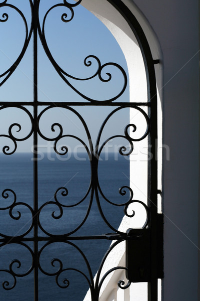 view of mediterranian sea from window Stock photo © godfer
