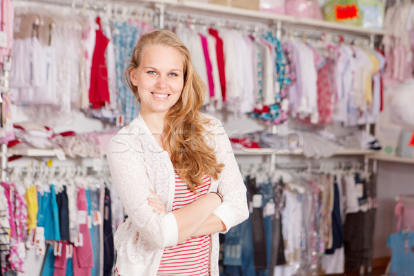 woman clothes shopping Stock photo © godfer