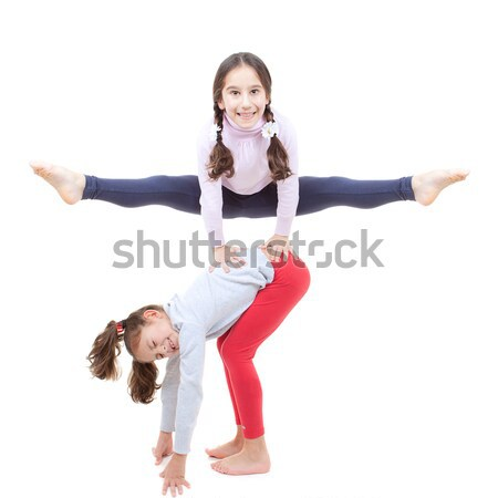 leapfrog kids Stock photo © godfer