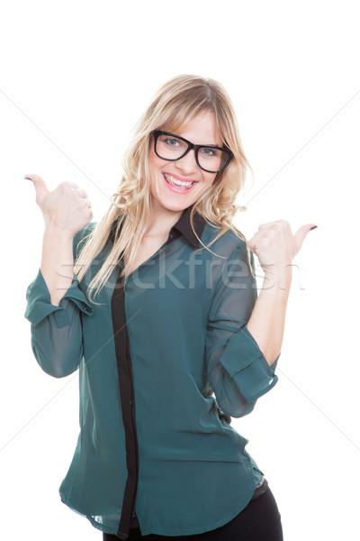 üzletasszony remek sikeres siker nő boldog Stock fotó © godfer