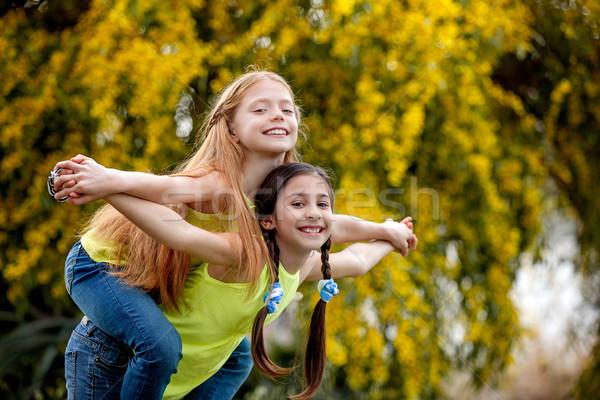friendship kids at sommer camp Stock photo © godfer