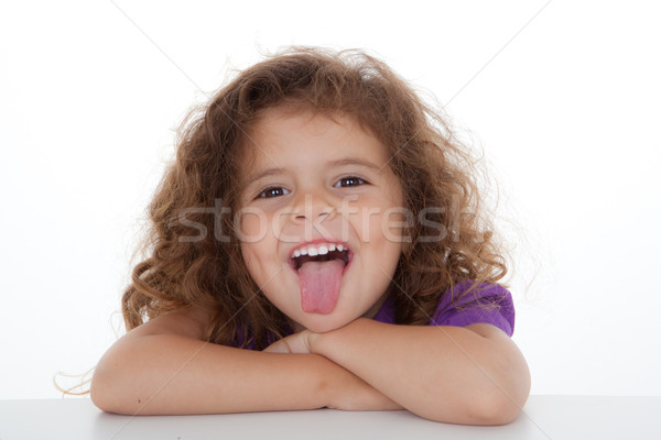 Kind duim uit kinderen gelukkig Stockfoto © godfer