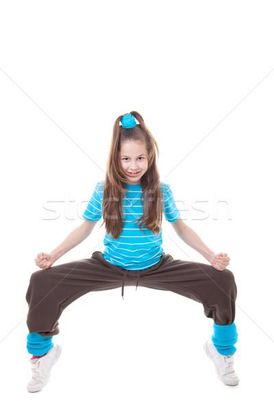 хип-хоп танцовщицы ребенка танцы улице Dance Сток-фото © godfer