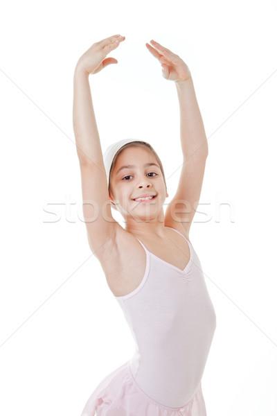 Giovane ragazza dancing classica balletto posa dance Foto d'archivio © godfer