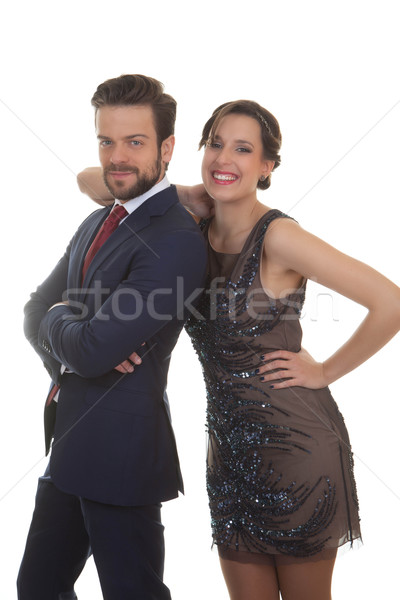 Stock photo: couple at party wedding event