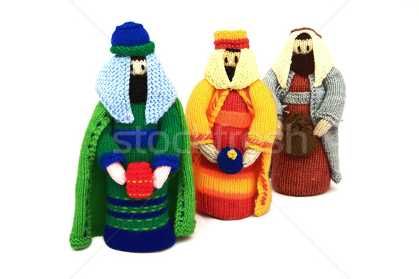 nativity scene, the 3 wise men or kings bearing gifts, Stock photo © godfer