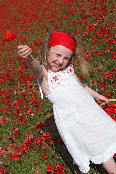 Jeunes enfant fleur fleurs nature Photo stock © godfer