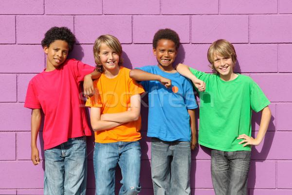 diverse kids Stock photo © godfer