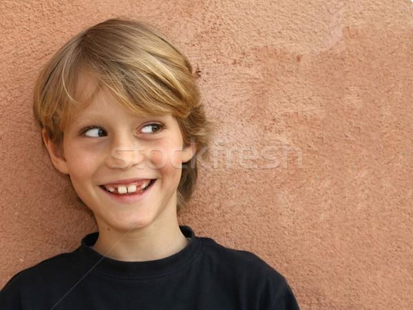happy smiling, cheeky kid child or boy Stock photo © godfer