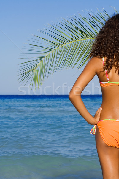 Stock photo: tanned woman on beach summer vacation