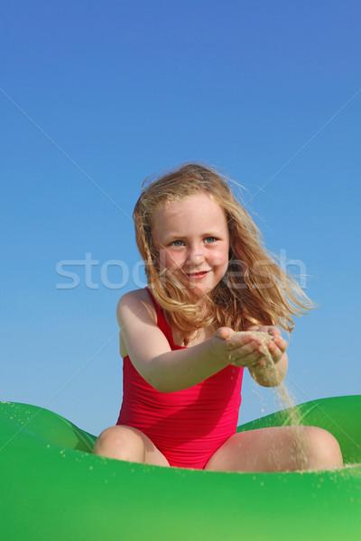 Boldog gyermek játszik nyári vakáció lány gyerekek Stock fotó © godfer